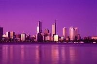 Downtown skyline, Perth, Western australia, Australia.