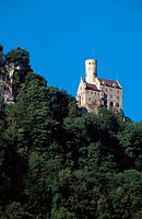 Castle, Lichtenstein,, Baden-Wurttemberg,, Germany