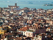 Overview from the Campanile. St. Mark's Square. Venice. Veneto. Italy