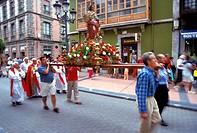 Prozession at Ribadasella, Asturias, Spain