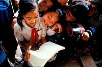 Vietnam, Hanoi, young pupils