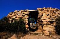 France, Corse-du-Sud (2A), Castellu d´Araghju prehistoric site in Porto Vecchio region