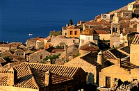 Greece, the Peloponnese, the fortified city of Monemvasia