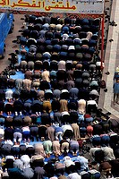 Egypt, Cairo, El Husssein mosque, Friday prayer