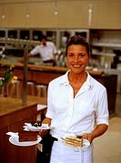 Austria, Vienna, Palmeraie restaurant, waitress