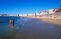 France, Pyrénées-Atlantiques (64), Pays Basque, Saint-Jean-de-Luz beach