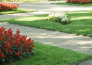 Landscaping, flower beds