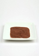 Sand in square dish