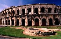 France, Gard (30), Nîmes, Roman arenas