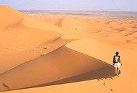 Morocco, Erg Chebbi, the sand dunes of Merzouga