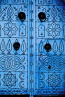 Tunisia, a door in Sidi Bou Said (surroundings of Tunis)