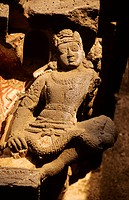 India, Maharashtra State, Ajanta cave dwelling monastery