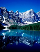 Canada, Alberta, Banff National park in the Canadians Rockies, Moraine lake
