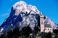 Austria, Tyrol, mountain of the chains of Wettersteen near the village of Lermoos
