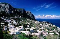 Italy, Campania, Capri Island, Marina Grande village