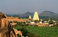 India, Karnataka State, Hampi, capital of the last Hindu kingdom of Vijayanagar (14th-16th century), Virupaksha temple