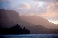 Anaho Bay, Nuku Hiva Island, Marquesas Islands, French Polynesia.
