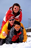 France, Savoie (73), Trois Vallees ski area, Les Ménuires (Model Release OK)