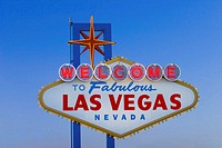 USA, Nevada, Las Vegas, neon welcome sign, outdoors