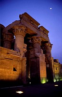 Main front of Kom Ombo temple, Egypt