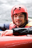 Male kayaker