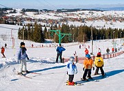 Skiing in Bukowina Poland