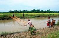 asia, burma, mon state, fishermen