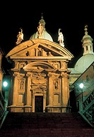 austria, graz, view of ferdinando II mausoleum by night