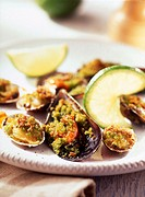 mussels and clams au gratin
