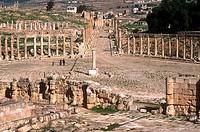 asia, jordan, jerash, roman forum and carlo maximo from zeus temple