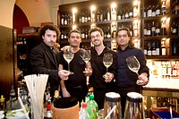europe, italy, campania, naples, by night, vintage wine bar, via bernini