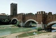 castelvecchio and ponte scaligero, verona, italy