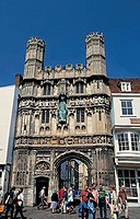 great britain, england, canterbury, cathedral, christ church gate