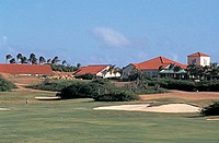 america, dutch antilles, aruba island, golf course,