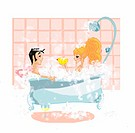 Couple in bathtub together