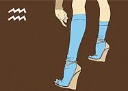 Legs of Aquarius woman