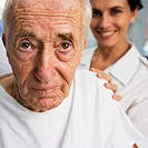 Older Man Getting Examined by Nurse