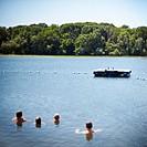 Boys Swimming in Swim Area