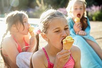 Enjoying Ice Cream Cones