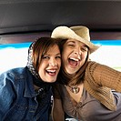 Two Young Women on Road Trip