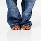 Boy Wearing Baggy Jeans