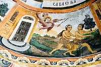 Frescos of Zahari Zograf, 1840. Church of St. Virgin. XVIth century. Monastery. Trojan. Bulgaria.