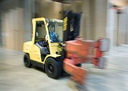 Forklift in paper mill