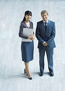 Two business executives, full length (thumbnail)