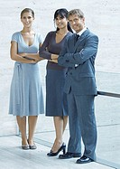 Three business executives, full length portrait