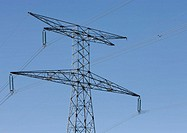 Electric pylon, low angle view (thumbnail)