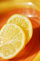 Close-up of slices of lemon