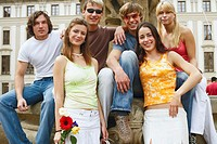 Portrait of a group of people posing