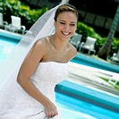 Close-up of a bride smiling (thumbnail)