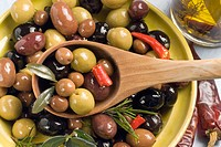 Seasoned olives
